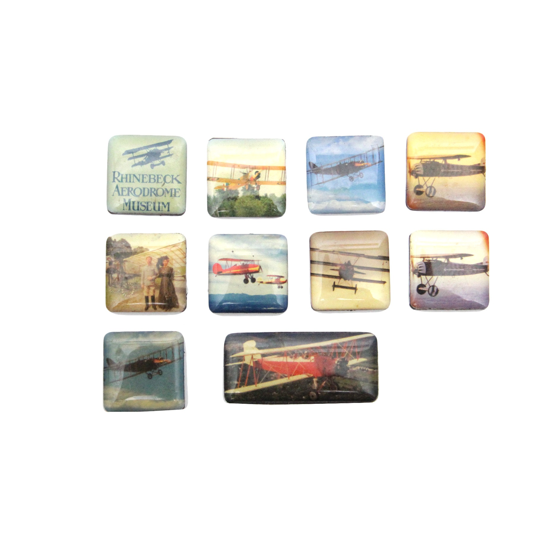 A Collection of Ten Aviation Magnets