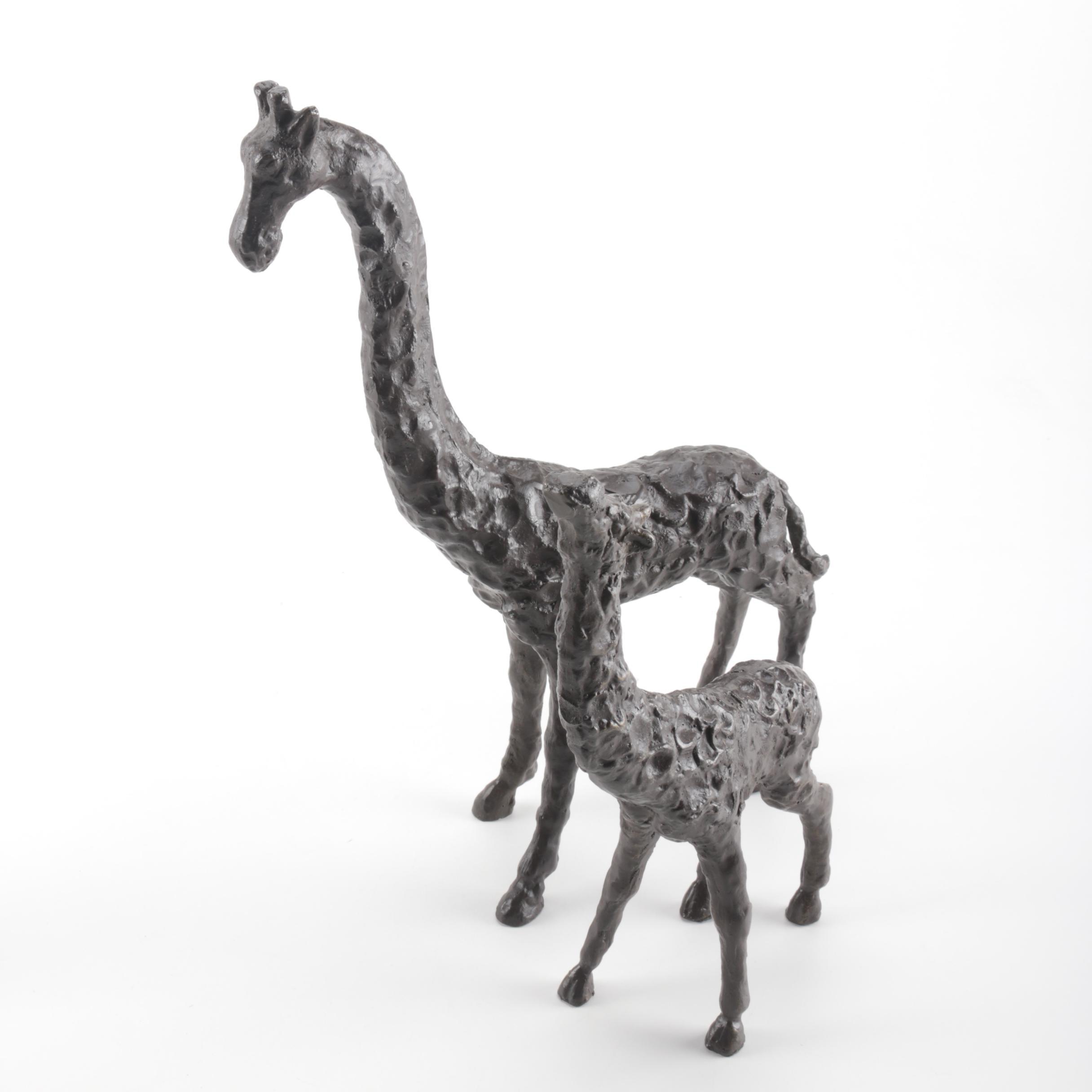 Pair of Giraffe Figurines