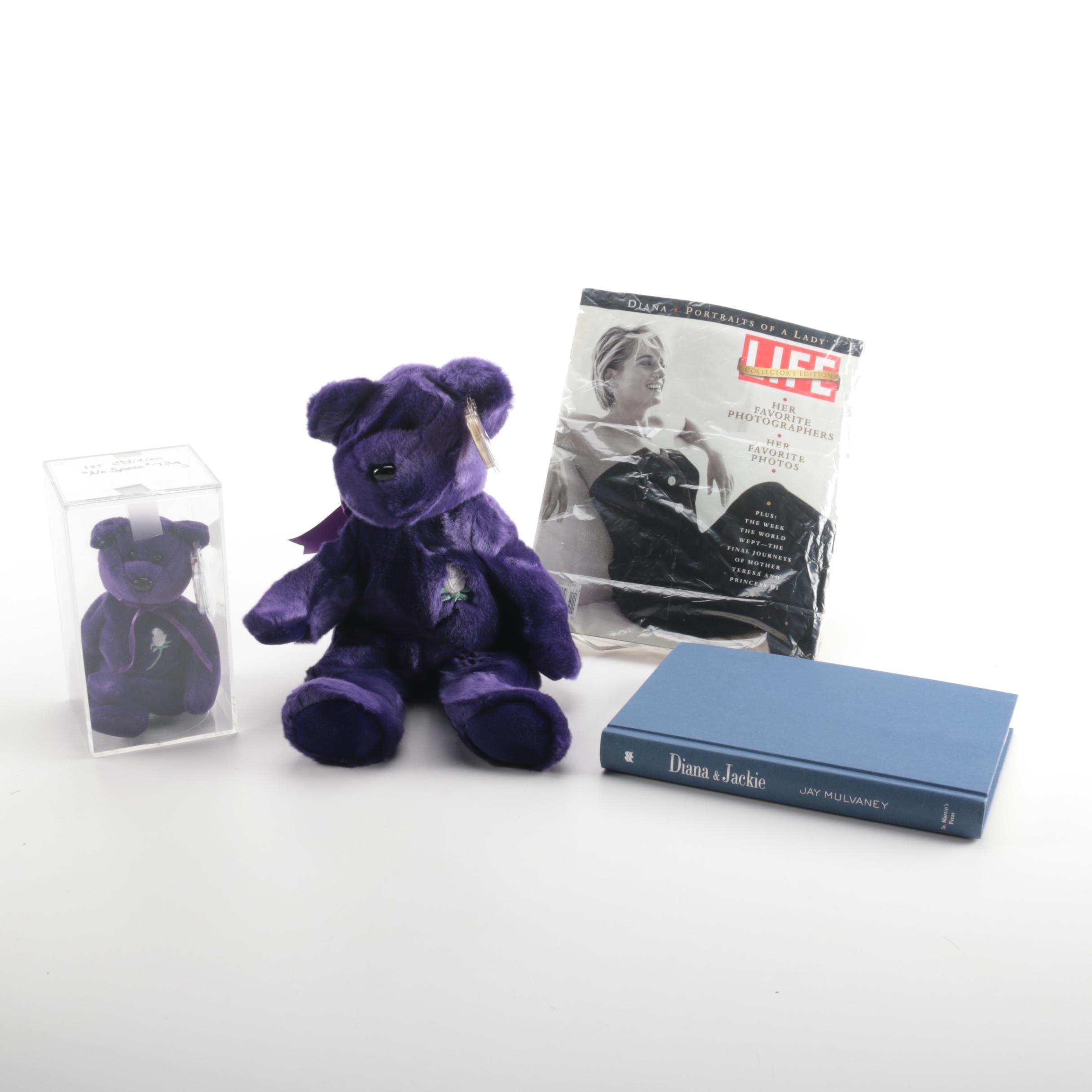 Princess Diana Memorabilia Including Ty Beanie Babies
