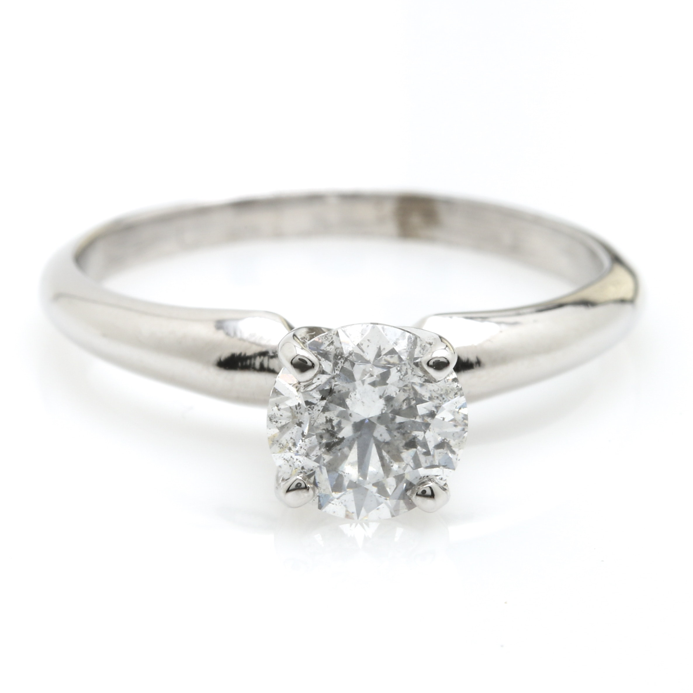 18K White Gold 0.95 CT Diamond Solitaire Ring