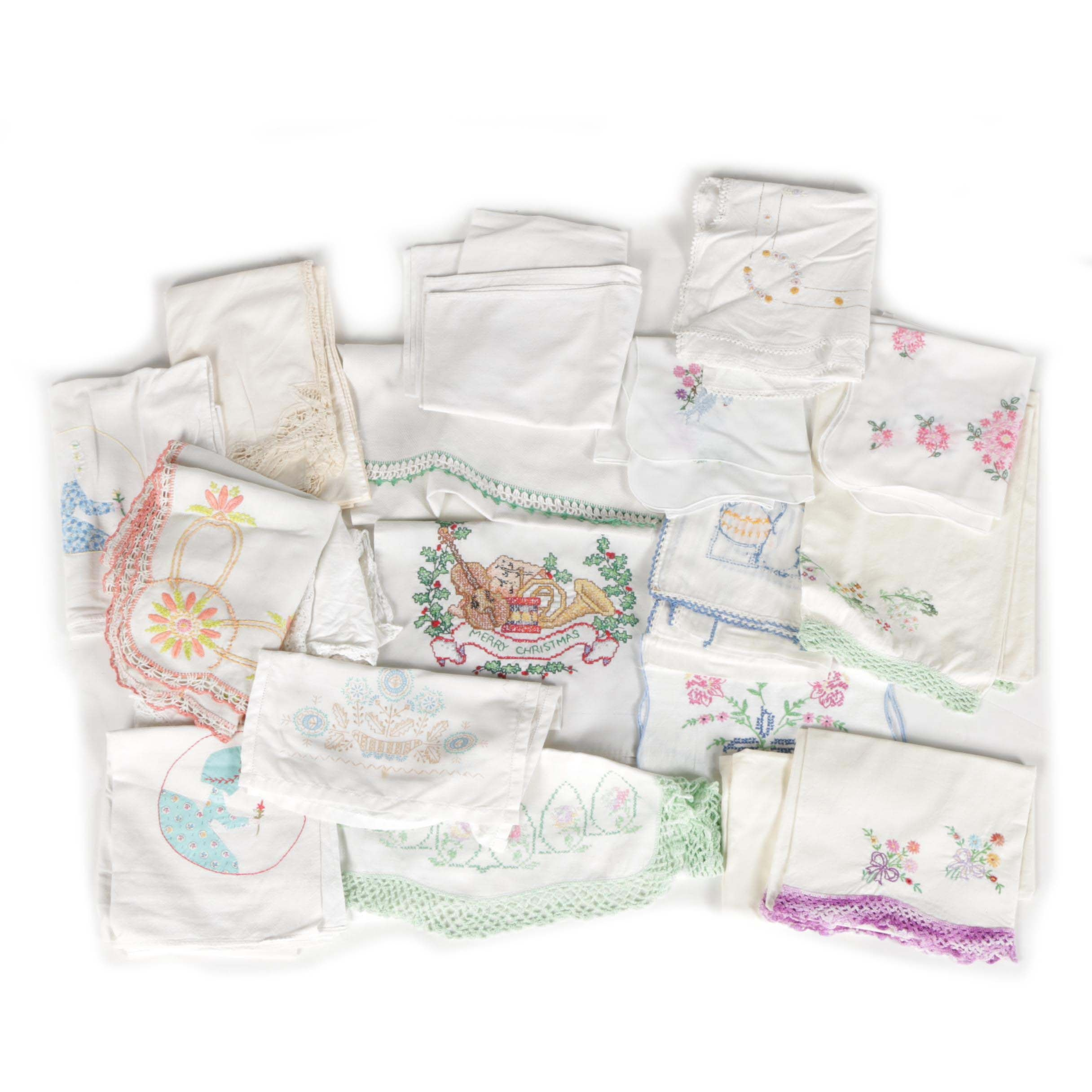 Hand-Embroidered Vintage Linens