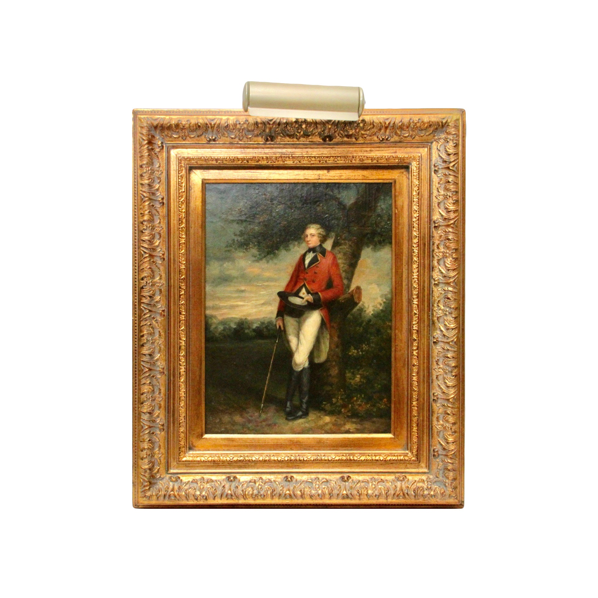 Ornate Framed Acrylic Painting on Board of Englishman
