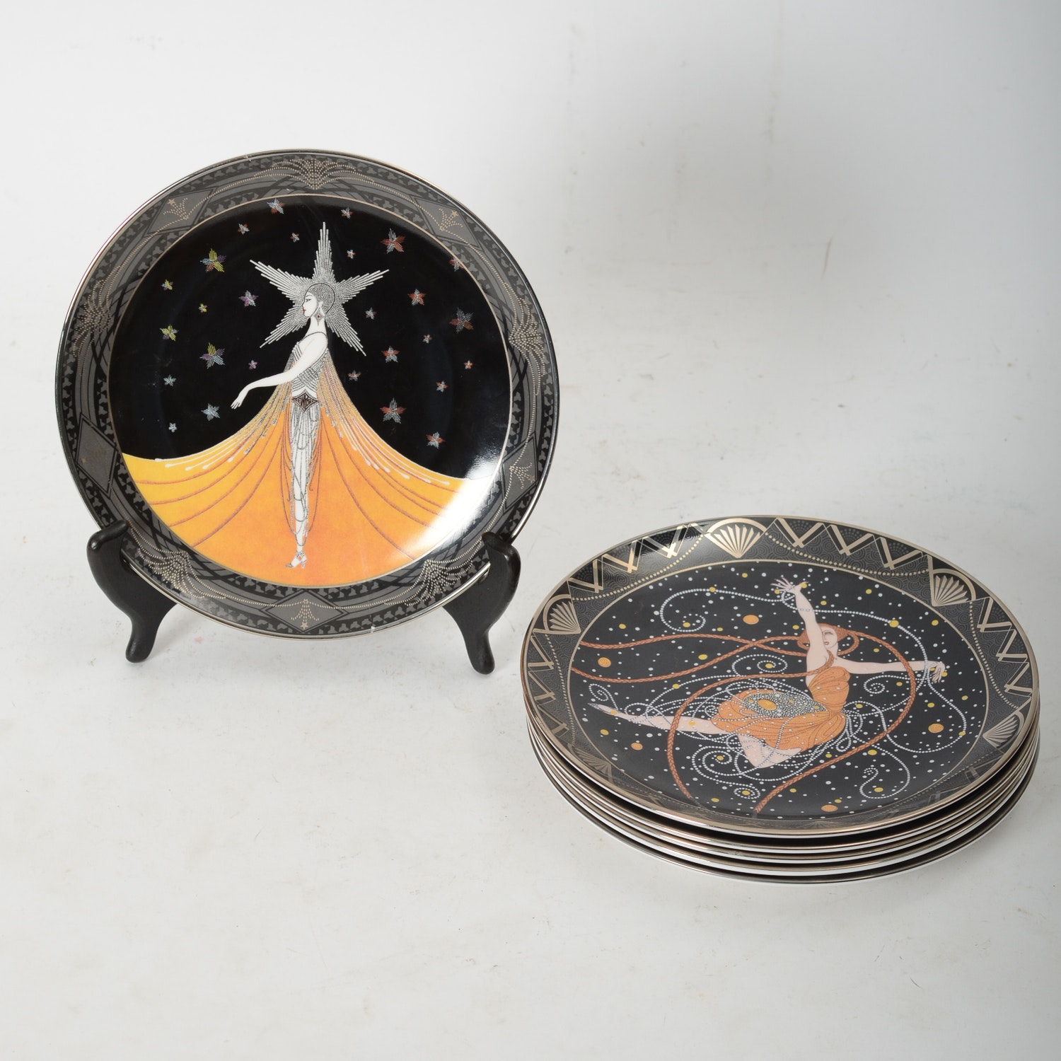 """Limited Edition """"House of Erté"""" Plates by Royal Doulton"""