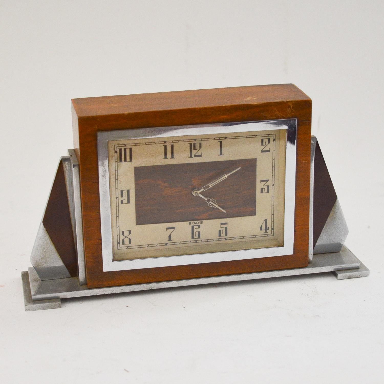 Art Deco Style 8-Day Shelf Clock