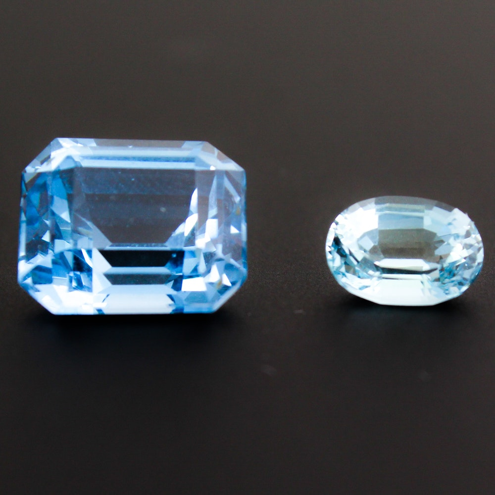 Blue Topaz Faceted Stones