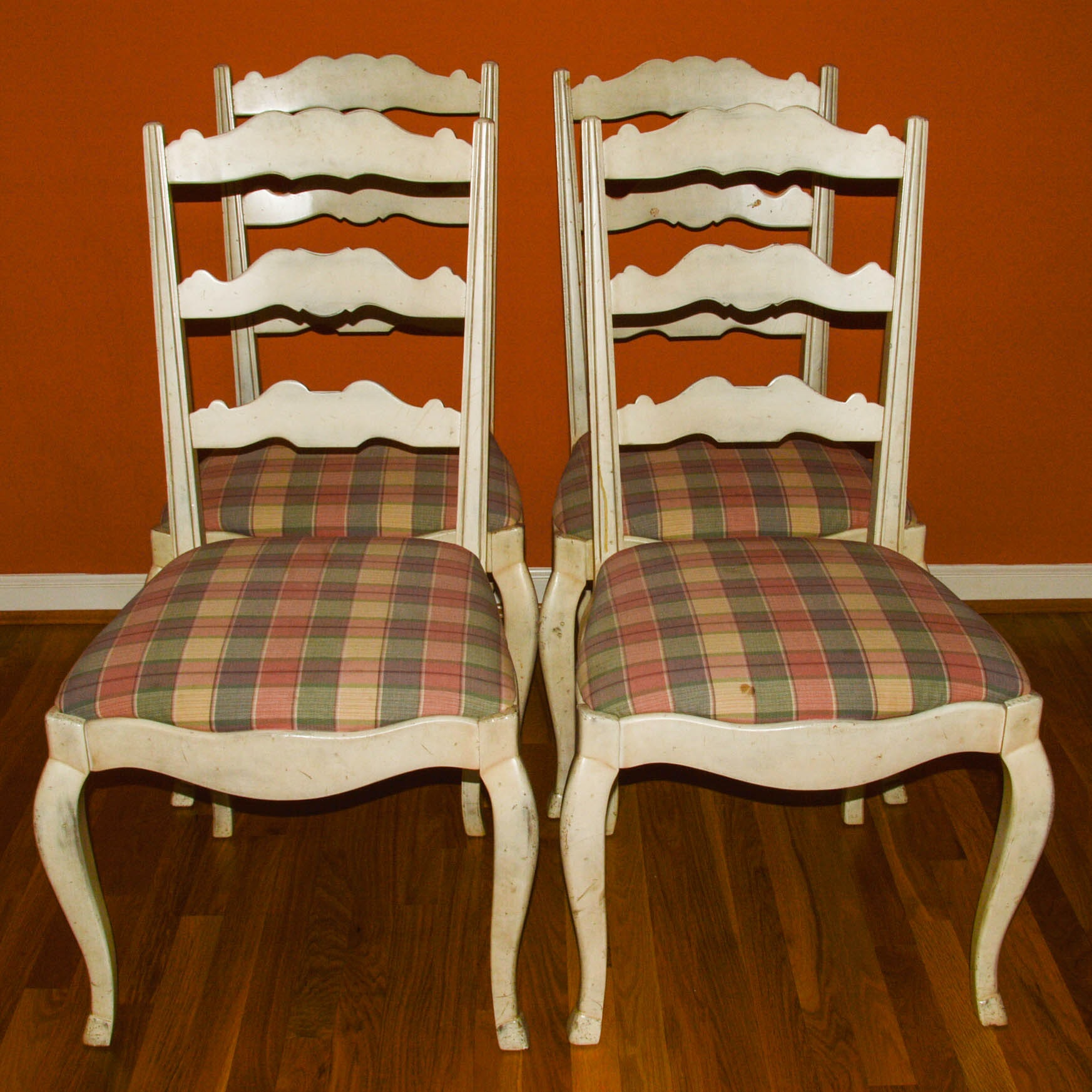 Provincial Louis XV Style Dining Side Chairs