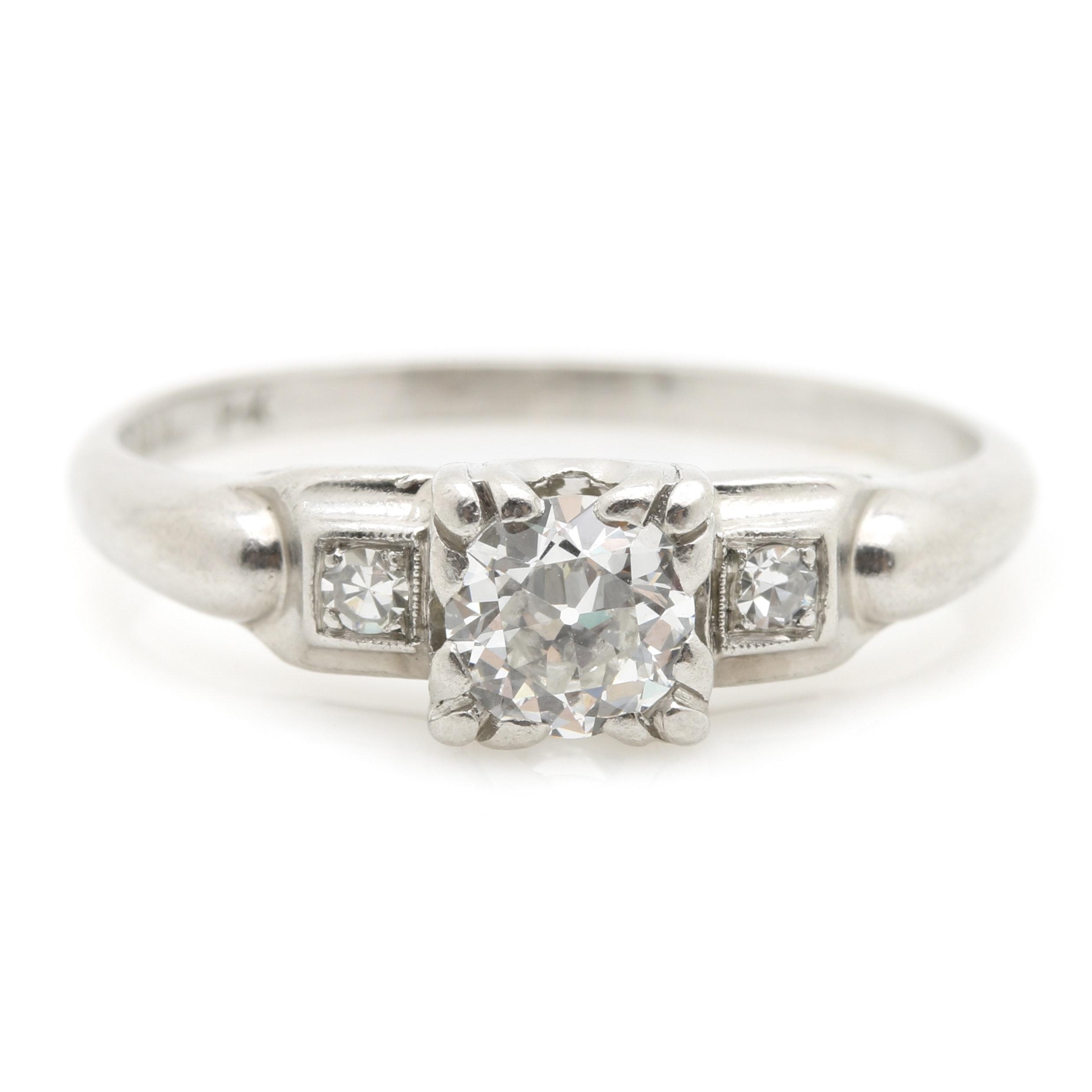 Platinum 0.41 CTW Diamond Ring
