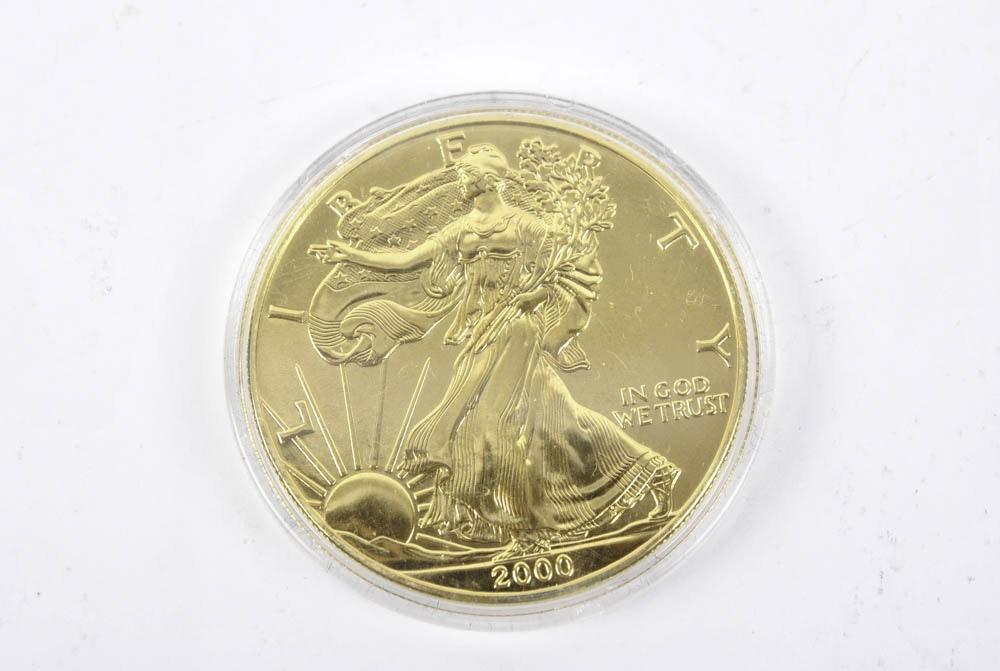 2000 Walking Liberty 1 oz. Fine Silver Round