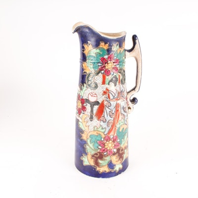 Vintage Japanese Inspired Ceramic Pitcher