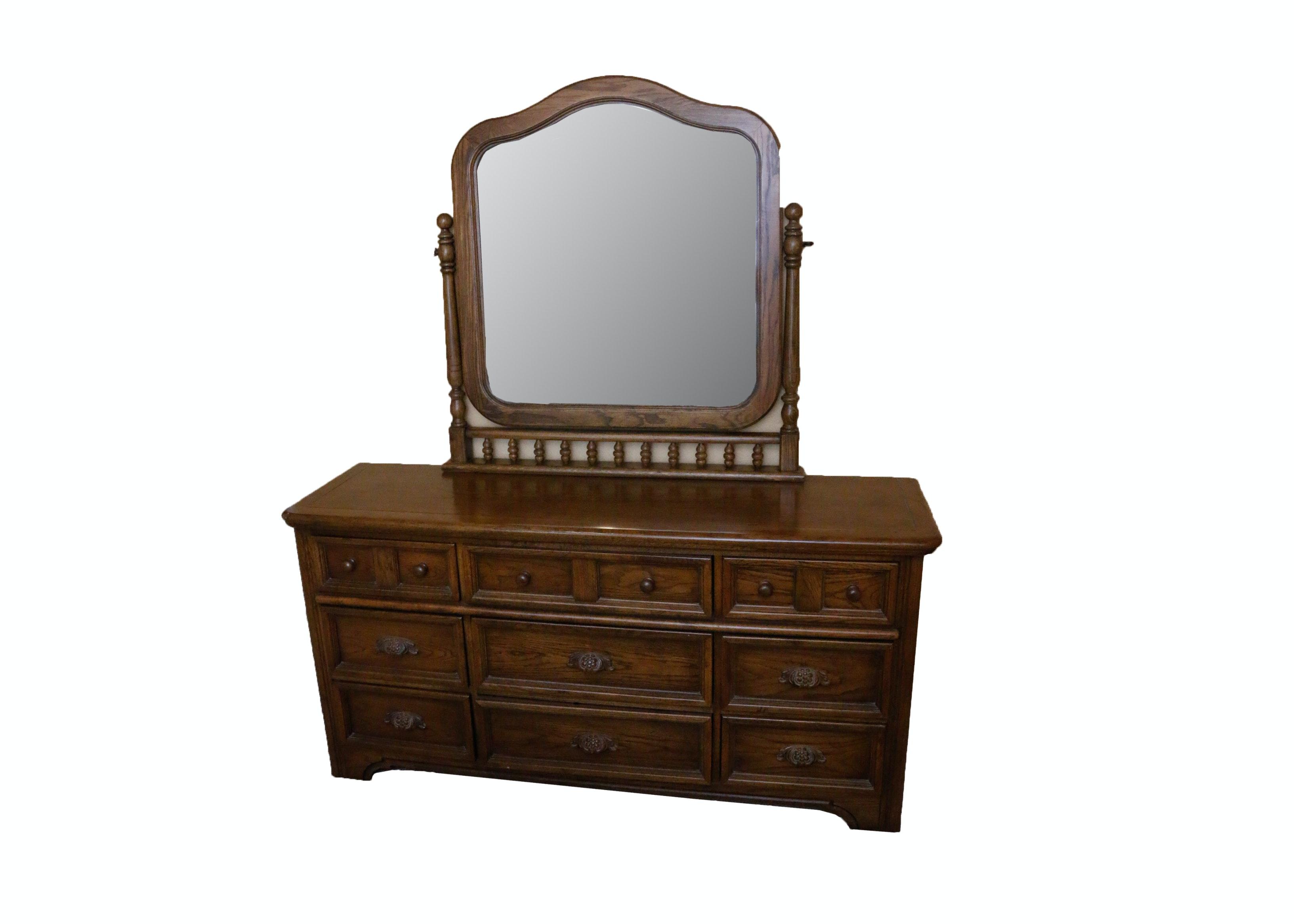Dixie Wooden Dresser with Mirror