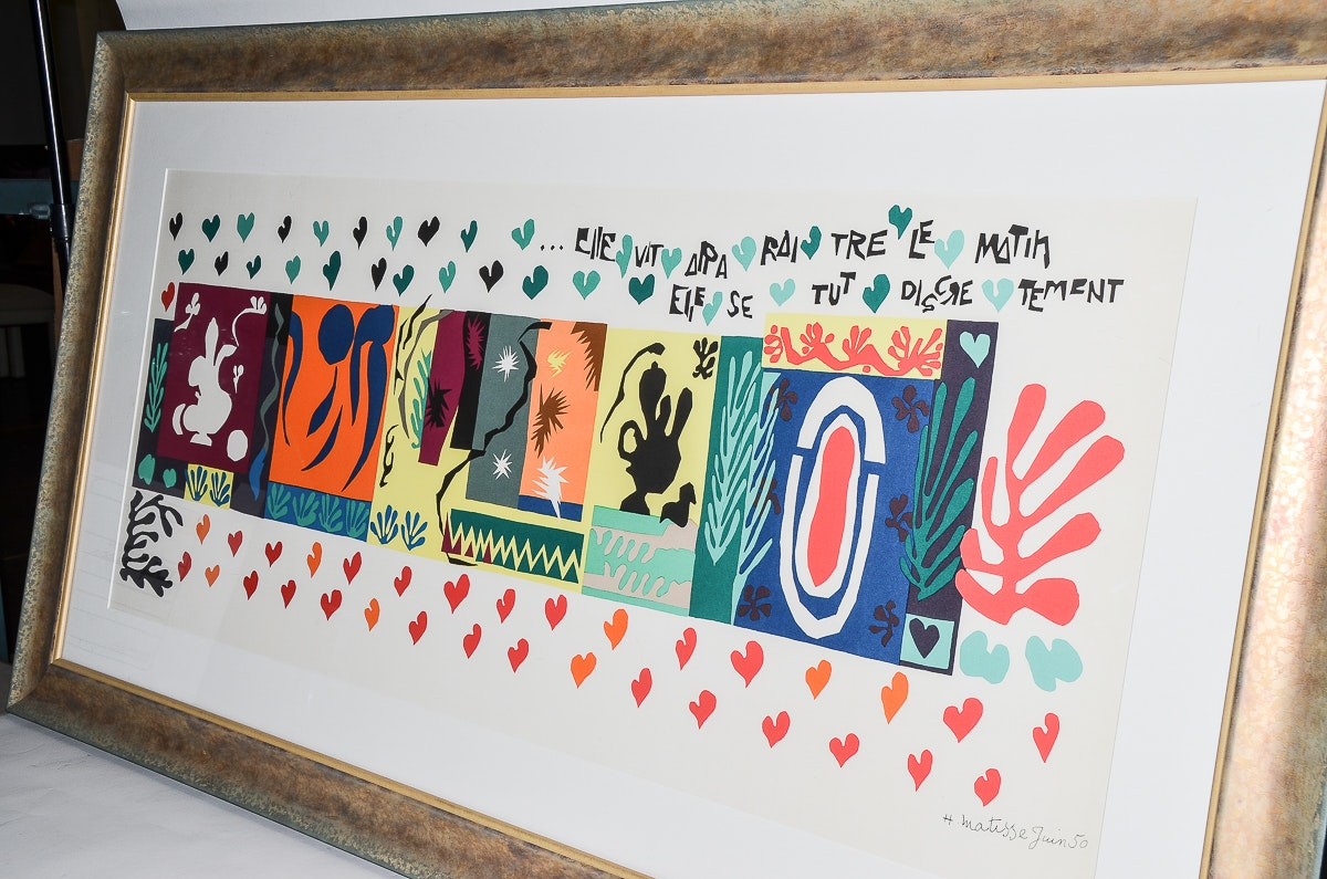 """Lithograph After Matisse's """"Thousand and One Nights"""" : EBTH"""