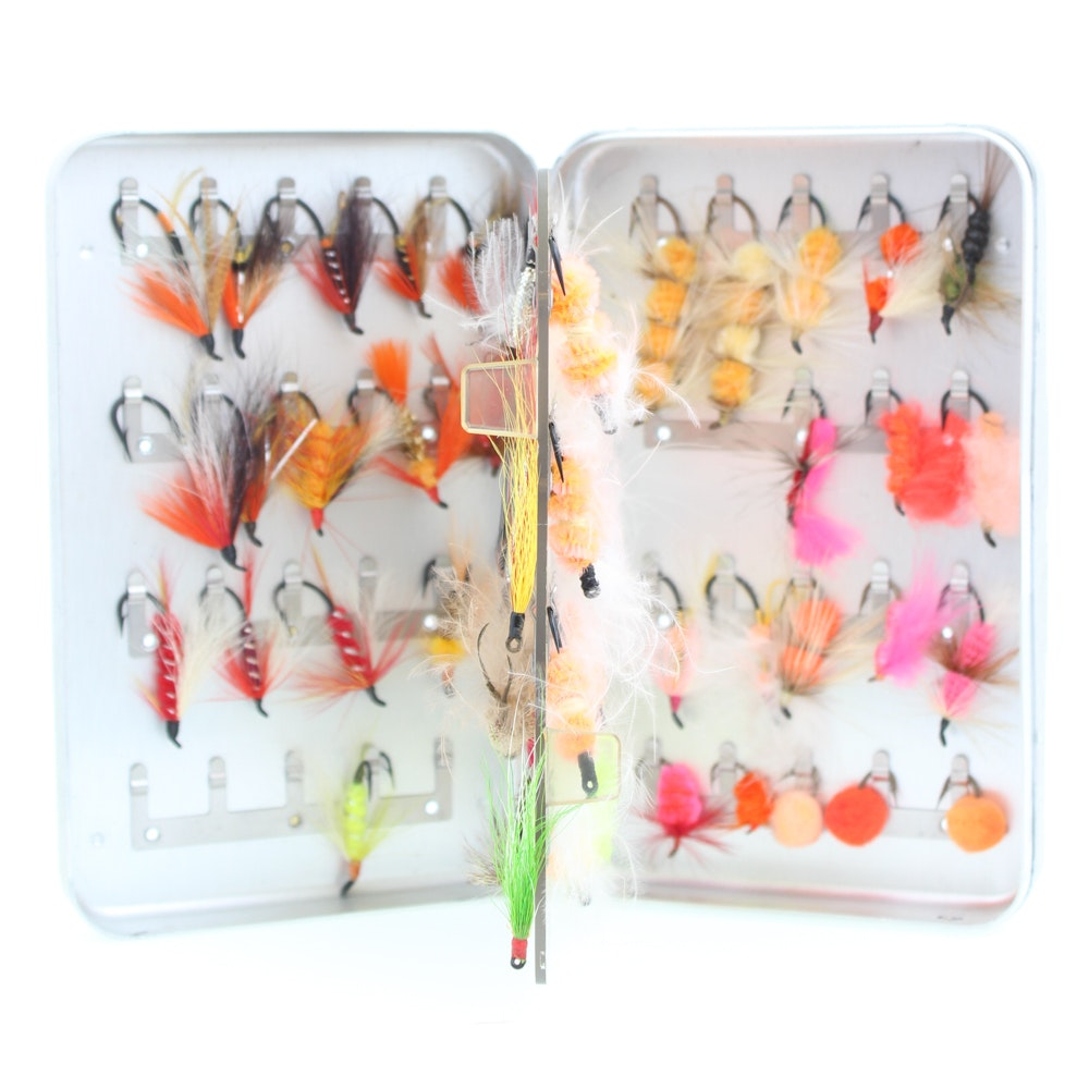 Salmon Flies in Perrine Box