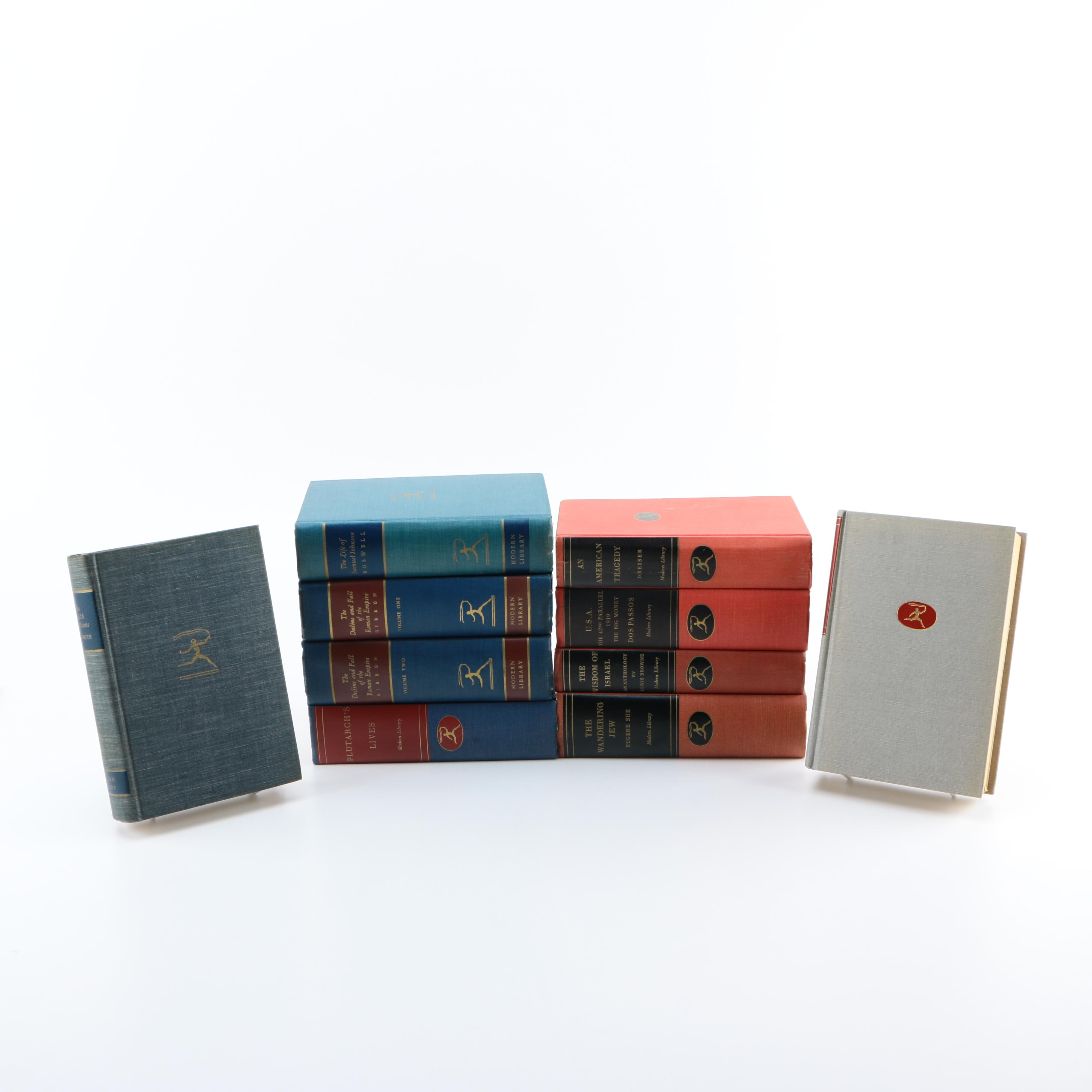 Collection of Vintage Books from the Modern Library