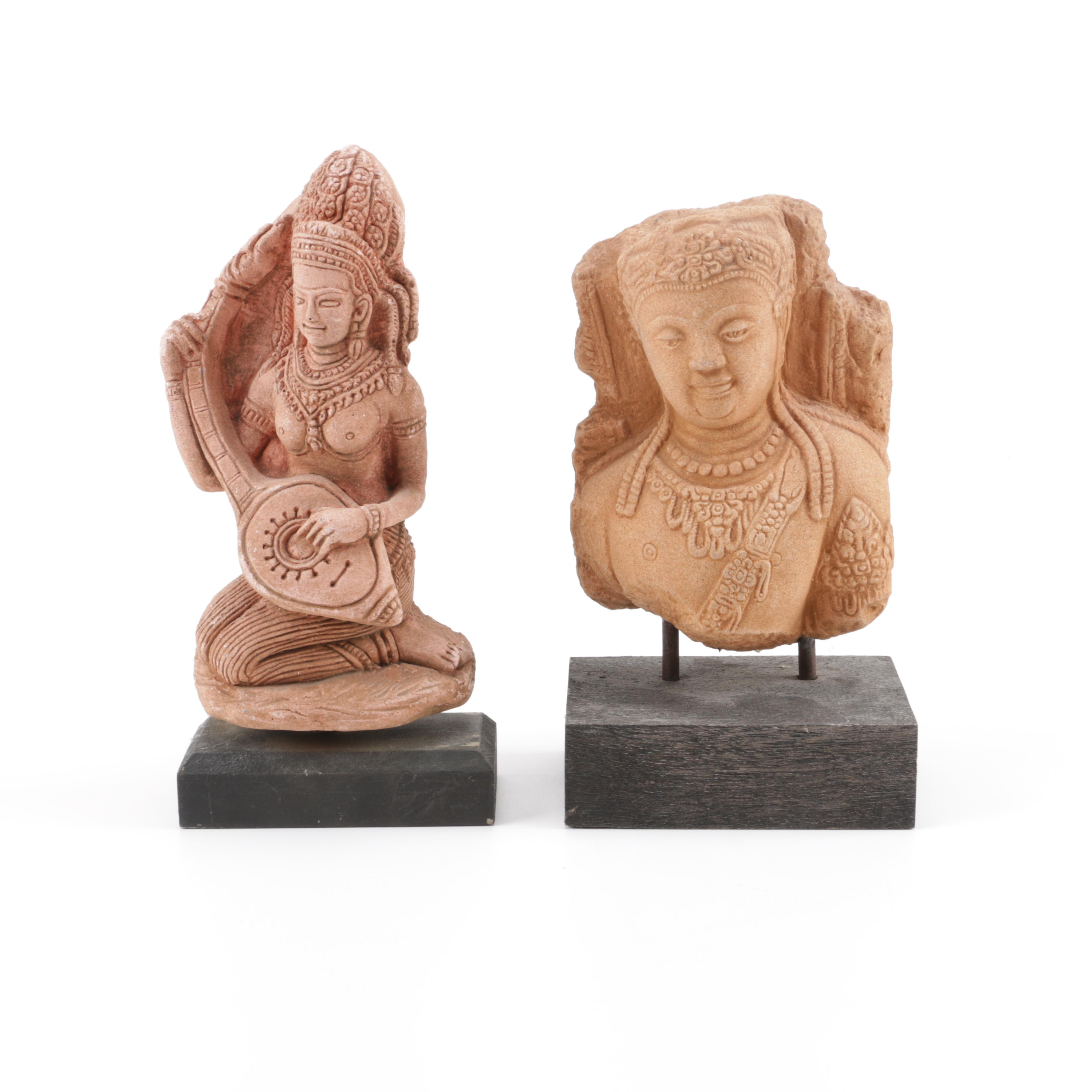 Two Indo-Persian Style Resin Figurines