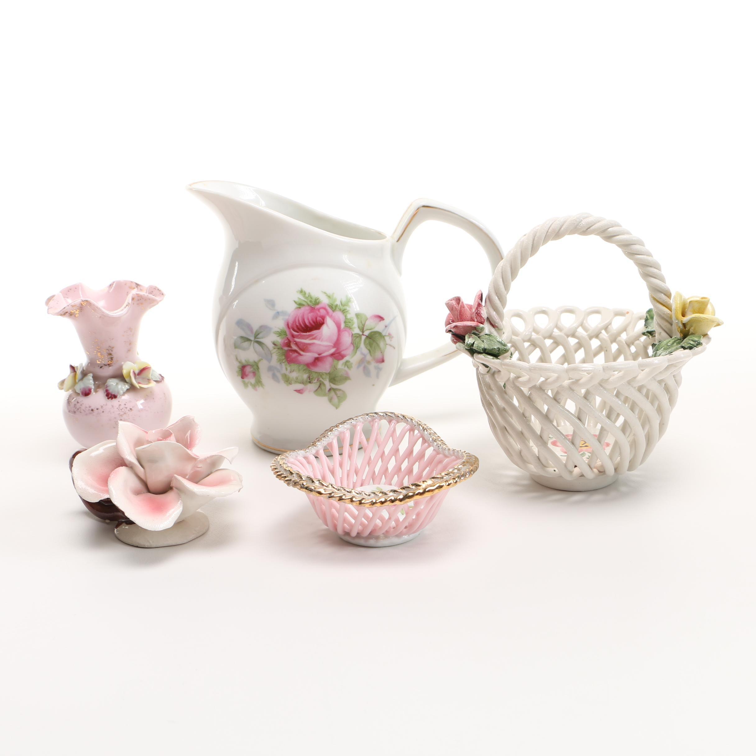 Collection of Porcelain Floral Décor