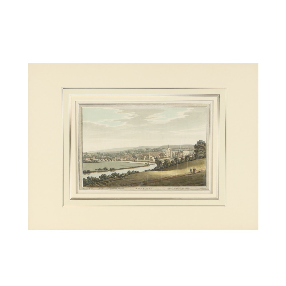 "J. Farmington and J.C. Stadler Aquatint on Paper ""Maidstone"""