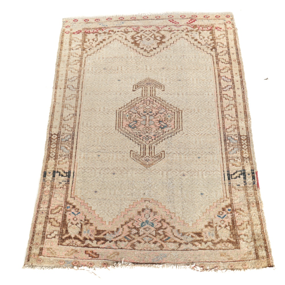 Semi-Antique Hand-Knotted Caucasus Wool Area Rug