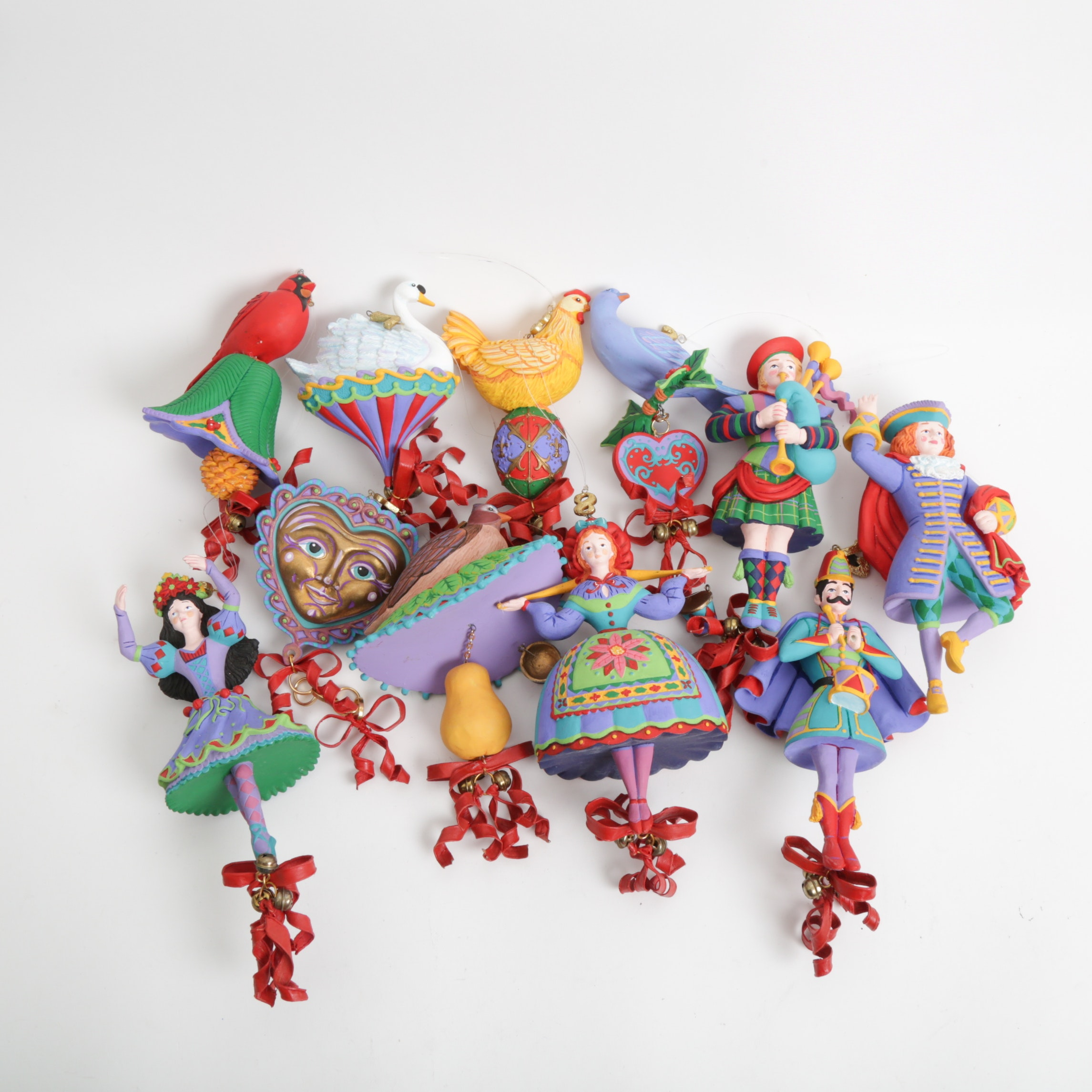 """Department 56 """"12 Days of Christmas"""" Ornaments EBTH"""
