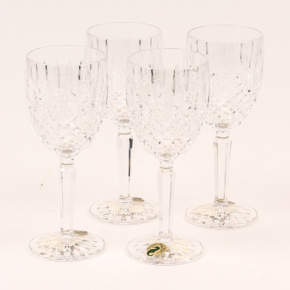 "Waterford Crystal ""Ballybay"" Claret Glasses"