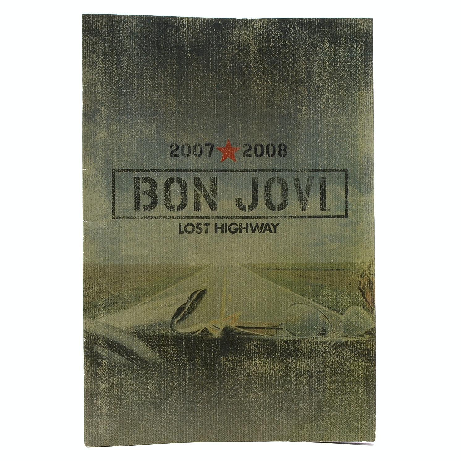 """2007-2008 Bon Jovi Signed """"Lost Highway"""" Concert Tour Book"""