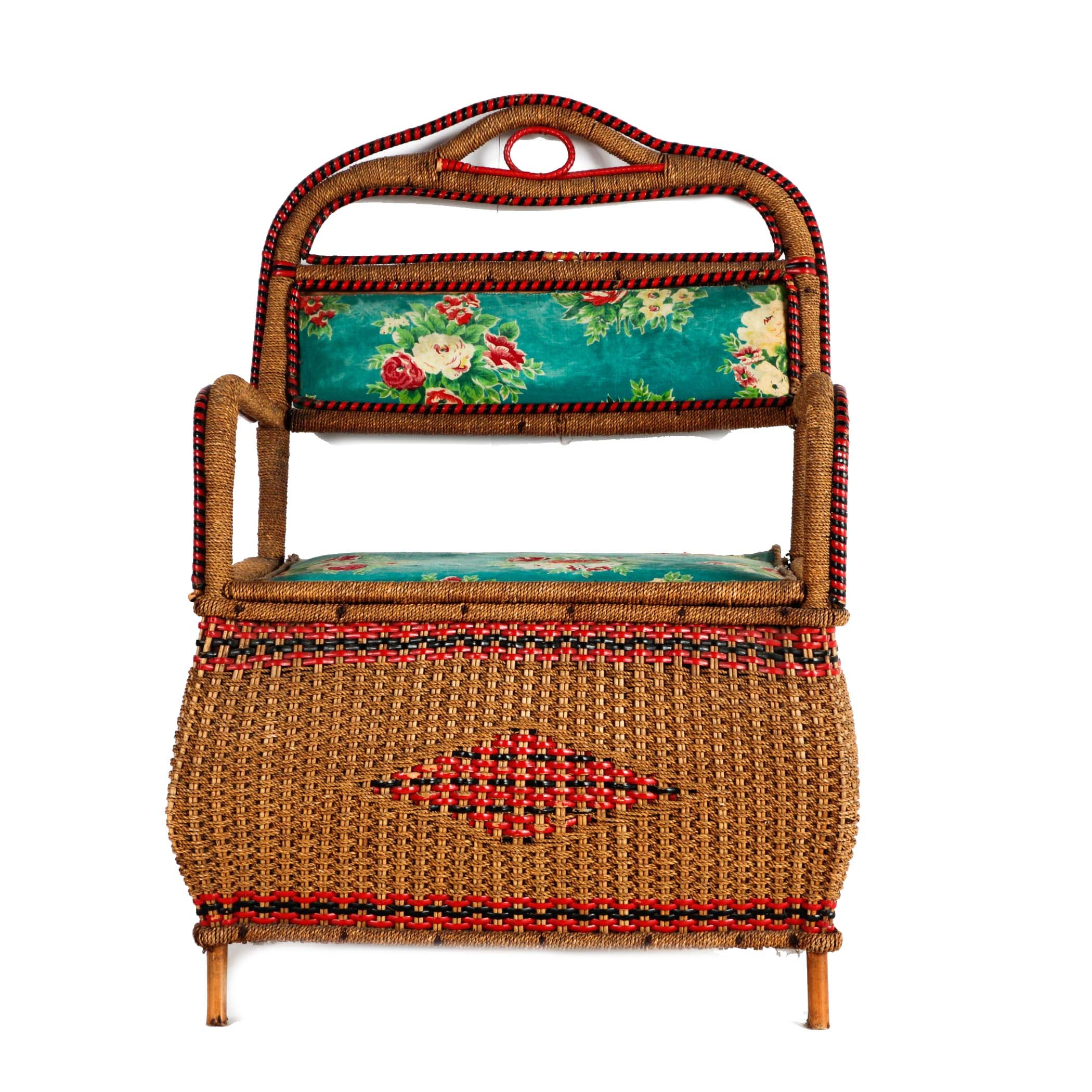 Vintage Woven Bench