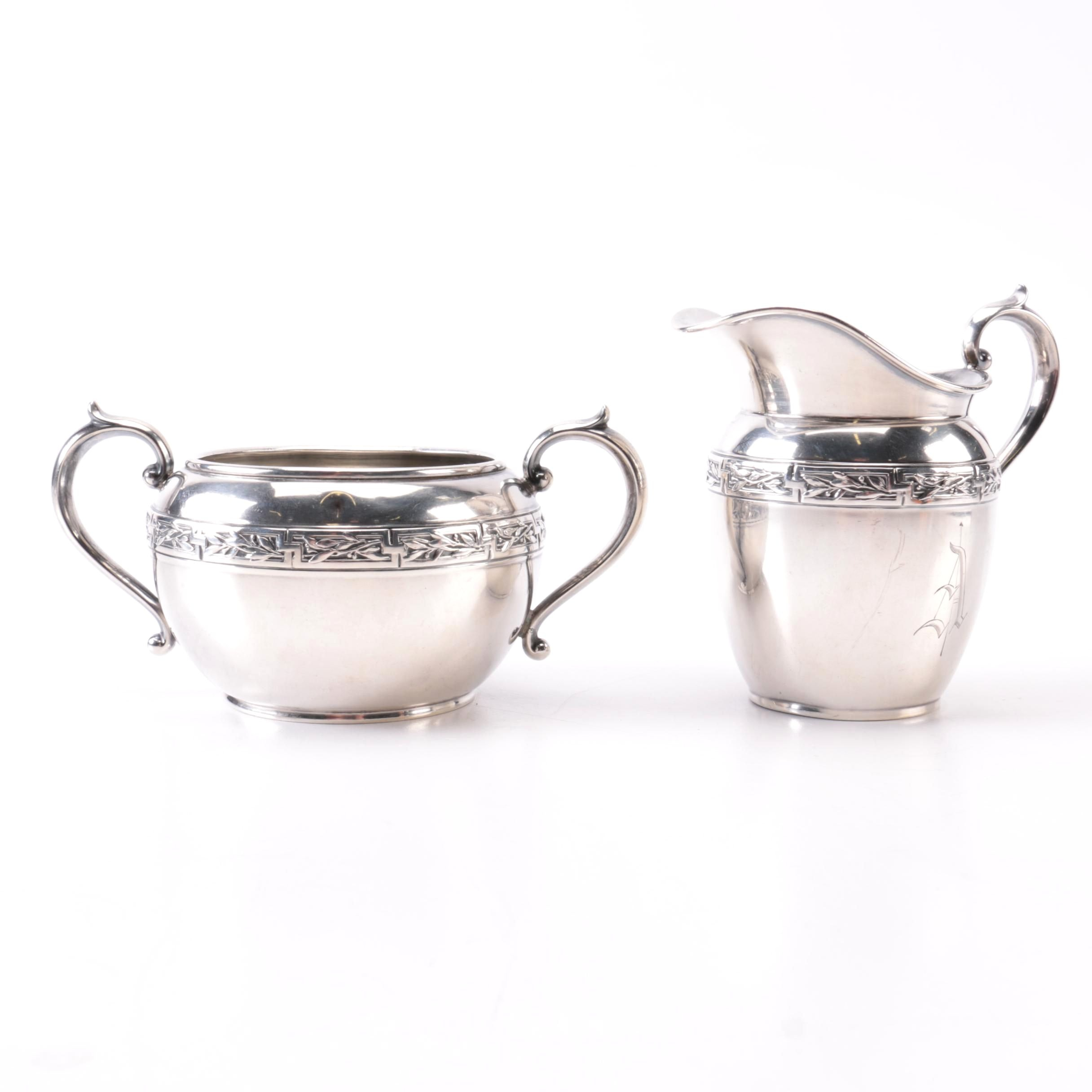 Gorham Sterling Creamer and Sugar