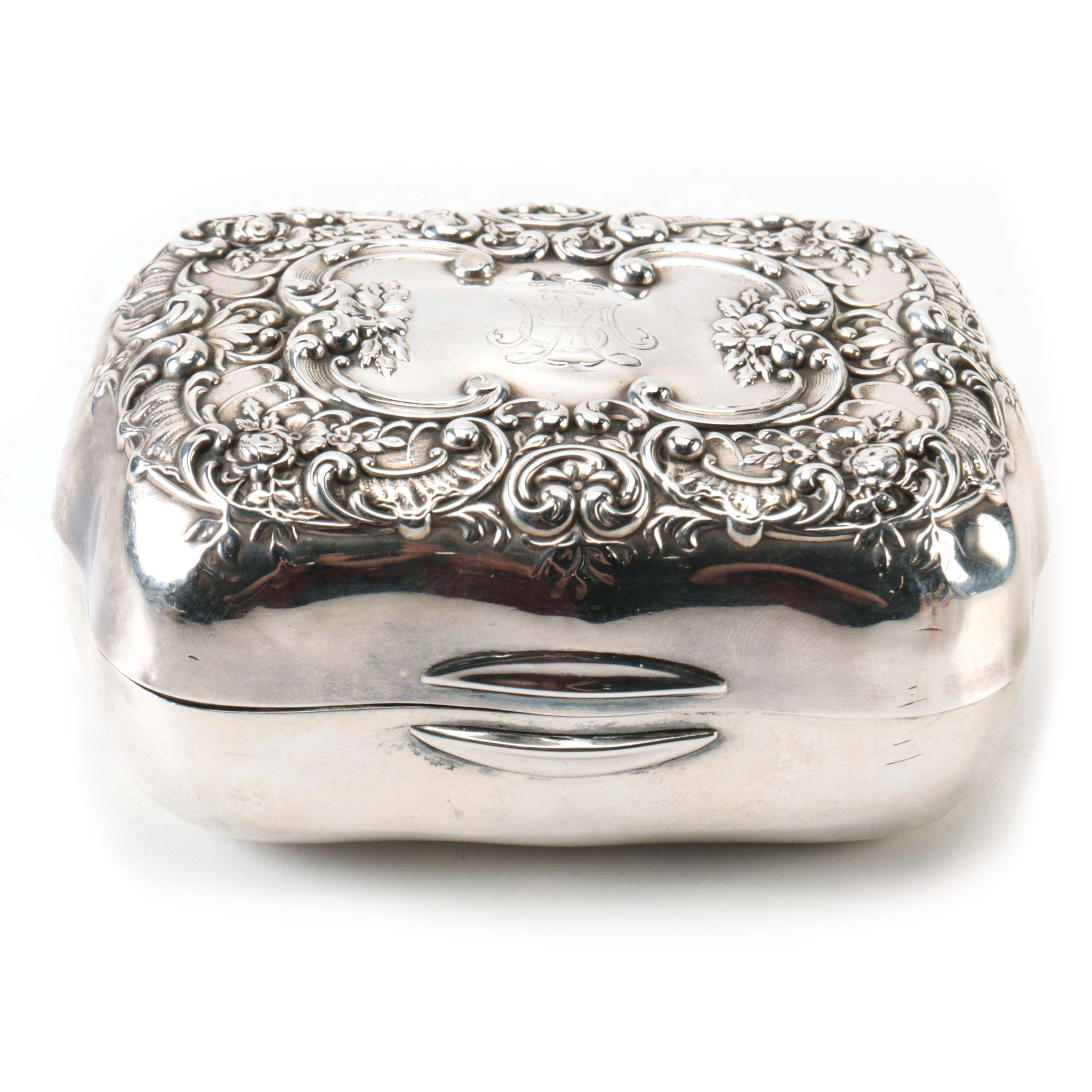 1901 Gorham Sterling Silver Trinket Box