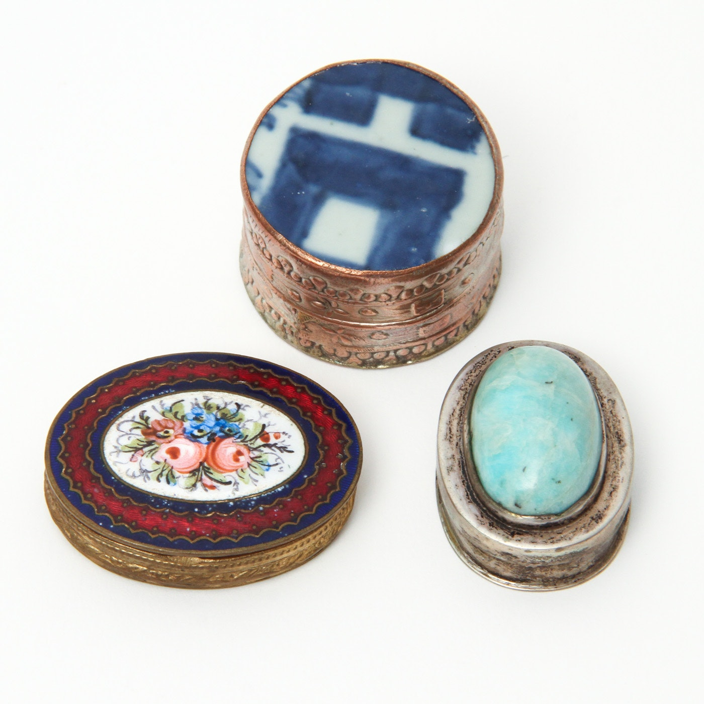 Collection of Trinket Boxes Including Limoges
