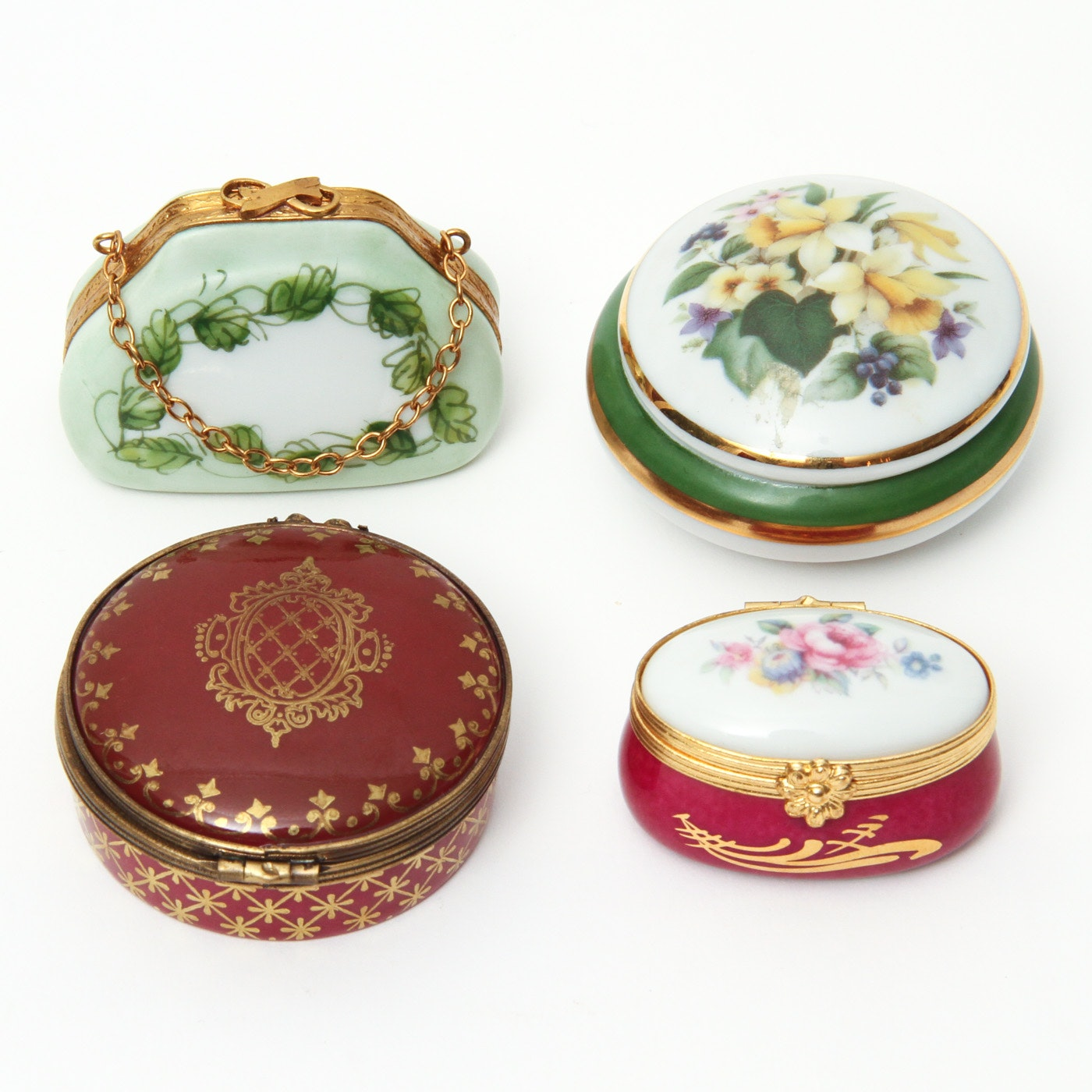 Collection of Limoges Trinket Boxes