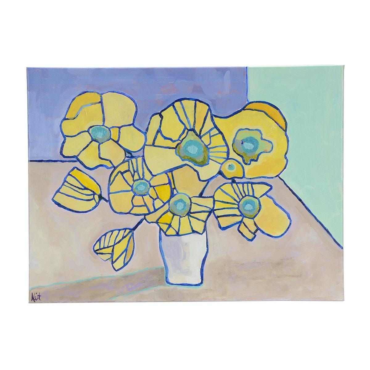 Kaitlin Roberts Original 2017 Contemporary Floral Acrylic on Canvas