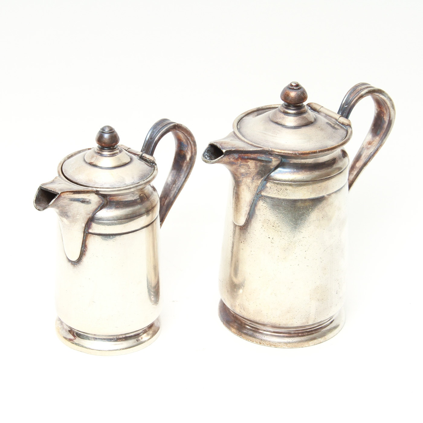 Pair of Reed & Barton Silver Soldered Coffee Pots
