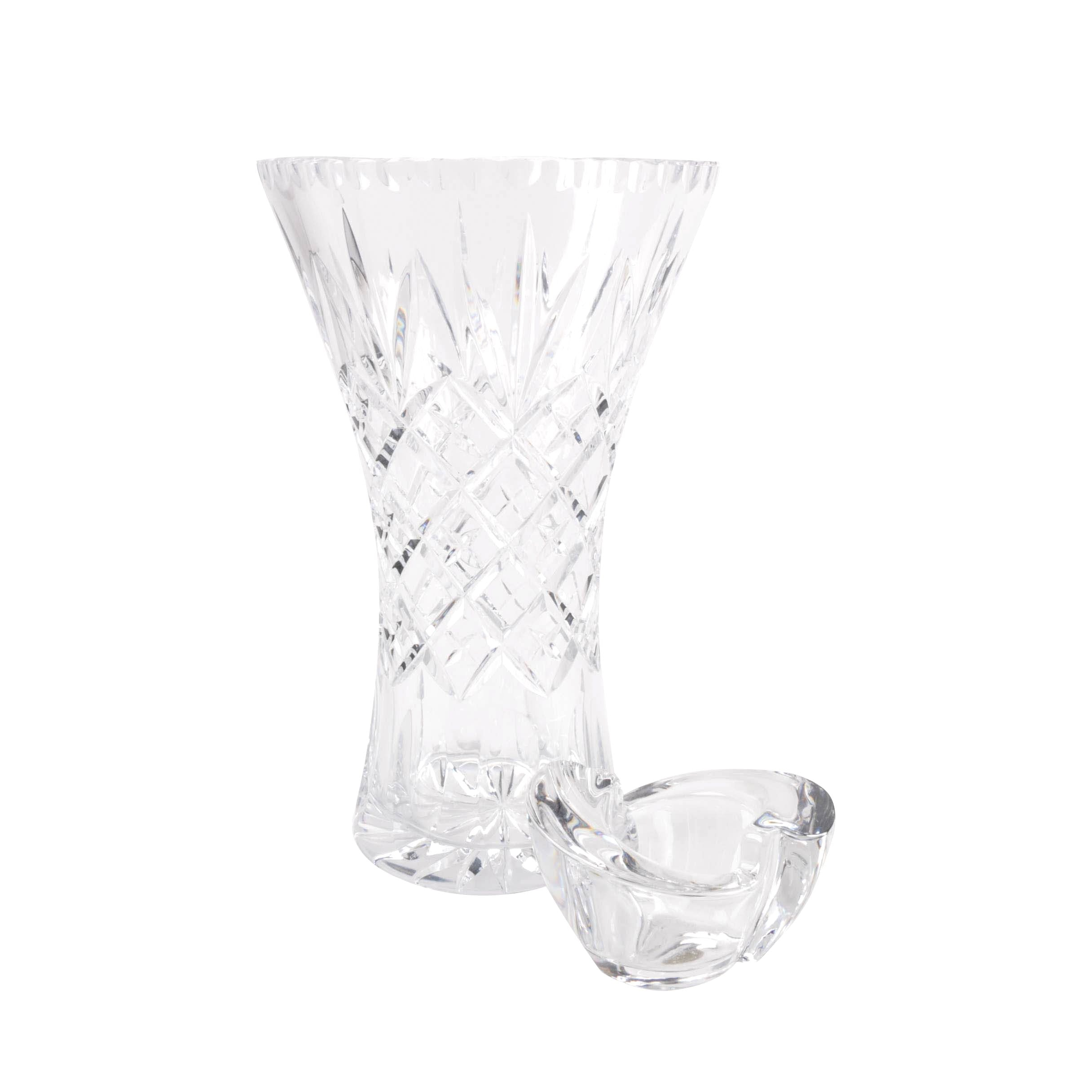 Česká Vase and Royal Crystal Rock Candle Holder