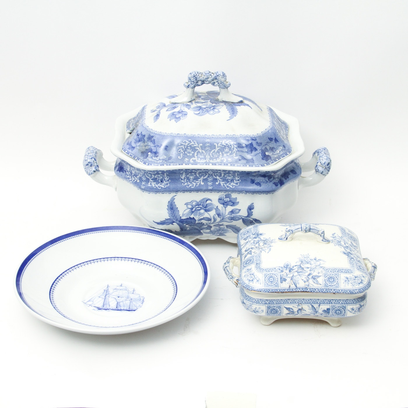"""Collection of Spode Copeland and Spode Serving Pieces including """"Camilla"""" Tureen"""