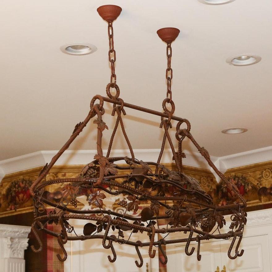 Cast Iron Hanging Pot Rack | EBTH