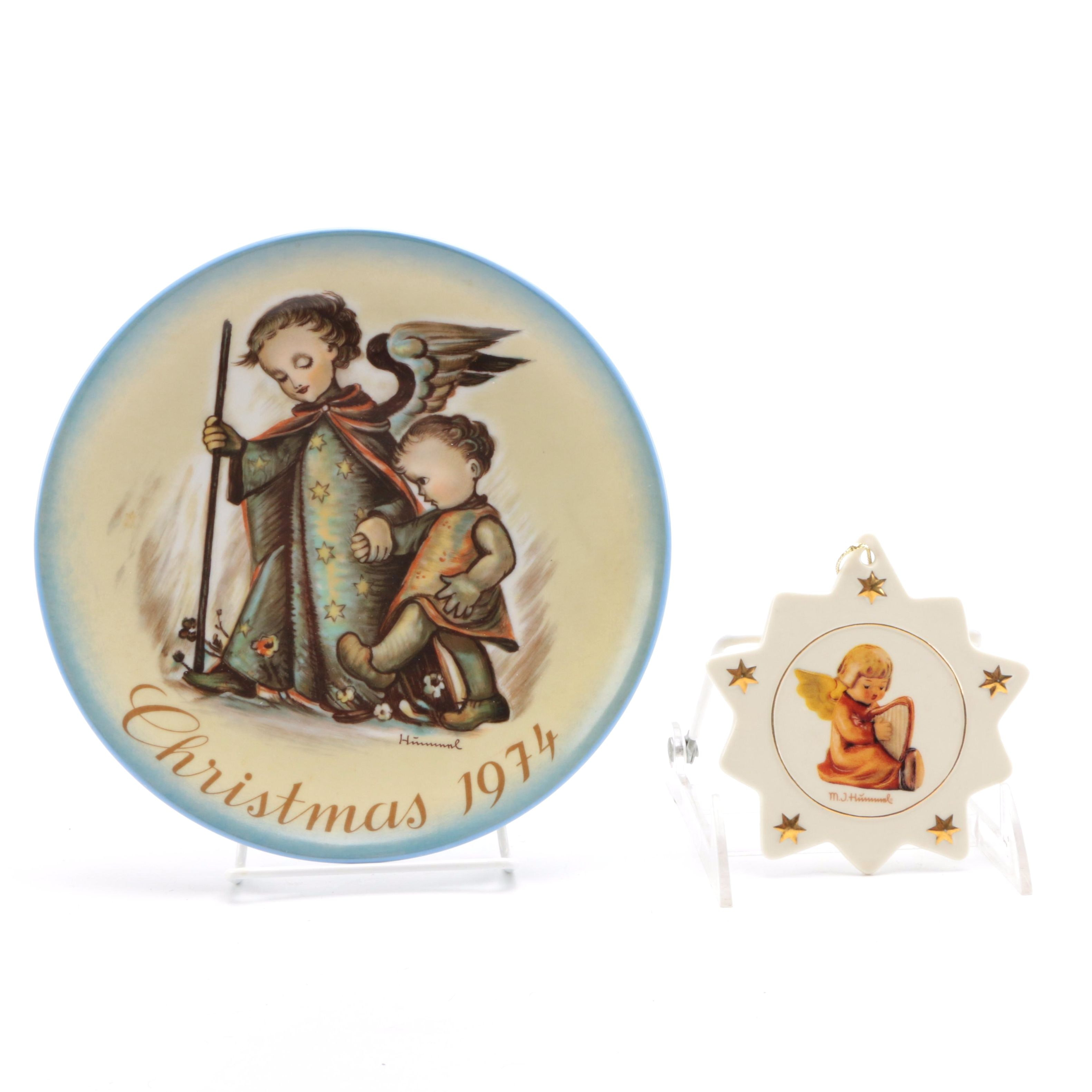 Limited Edition Hummel Plate and Ornament