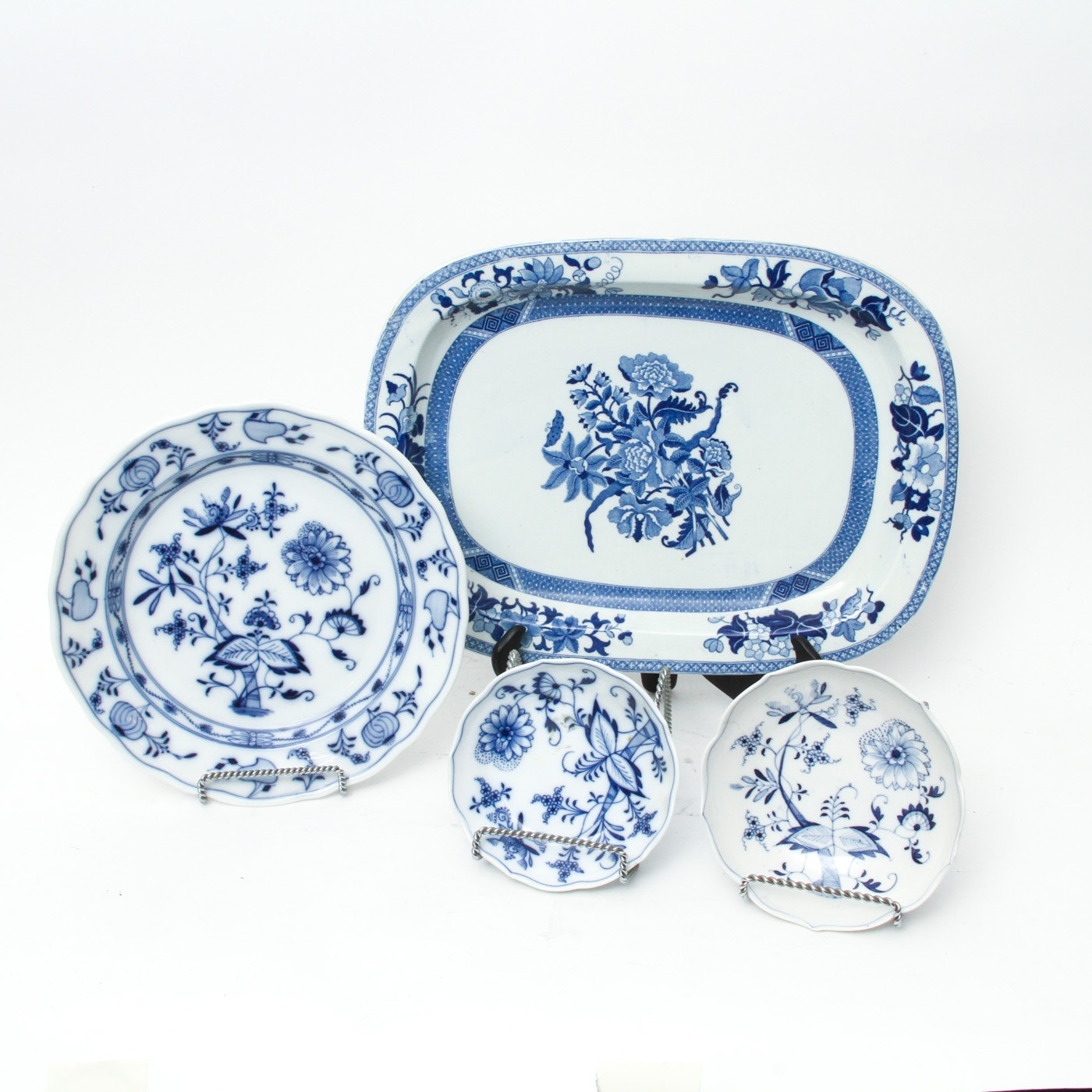 """Collection of Meissen Tableware including """"Blue Danube"""""""