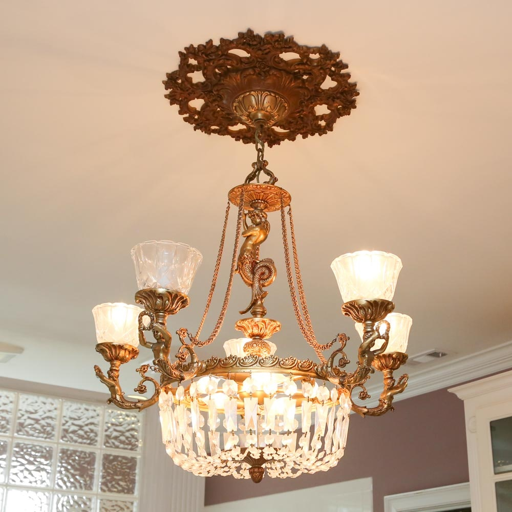 Neoclassical Crystal Chandelier