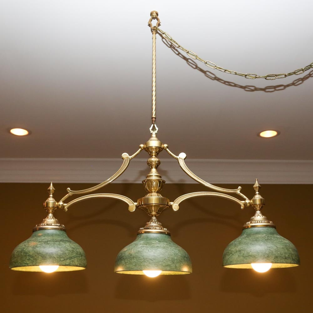 Brass Game Room Chandelier