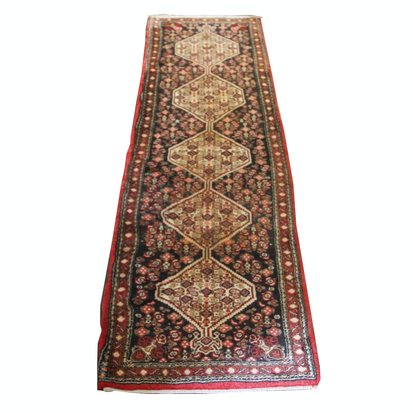 Vintage Persian Hand-Knotted Carpet Runner