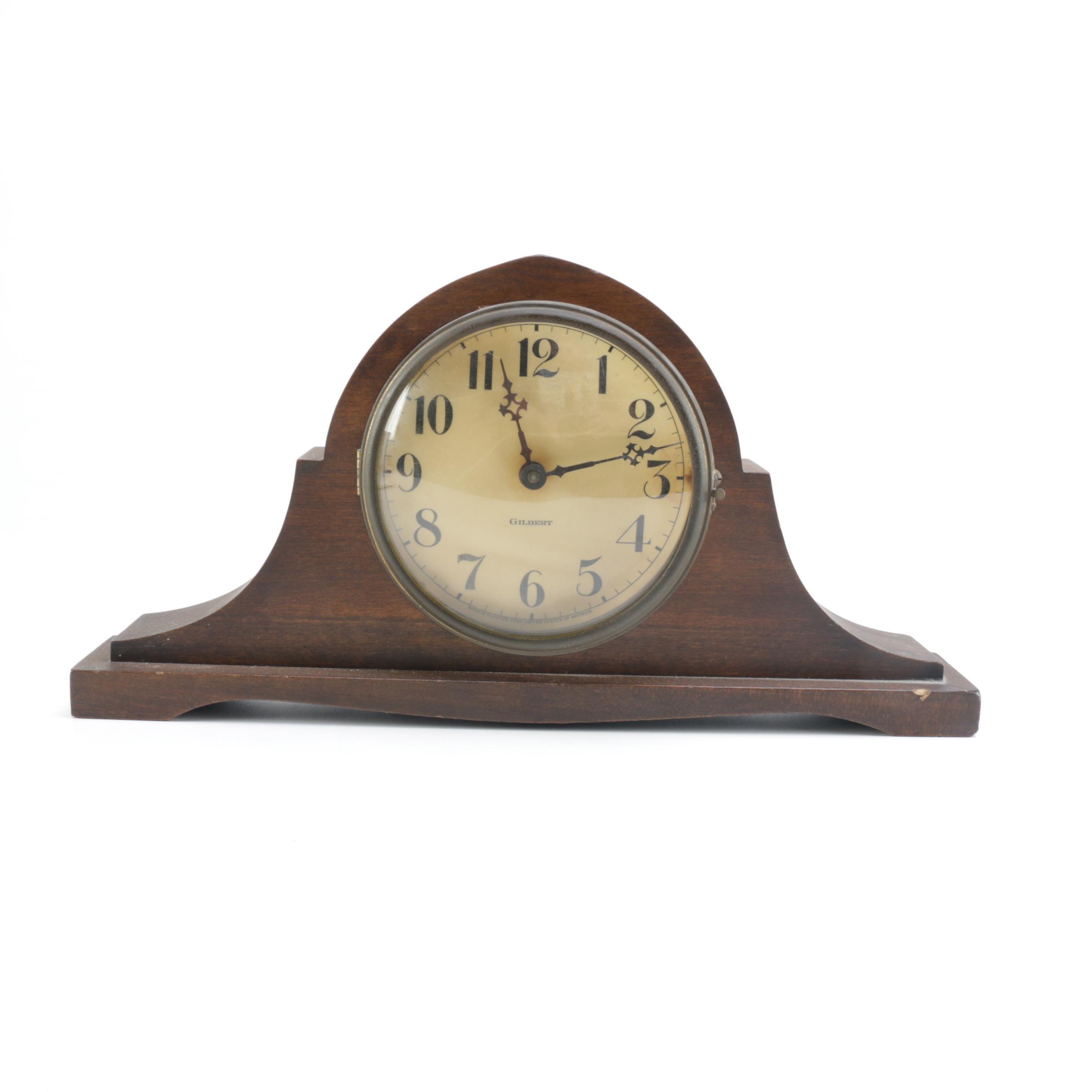 Gilbert Wooden Mantel Clock