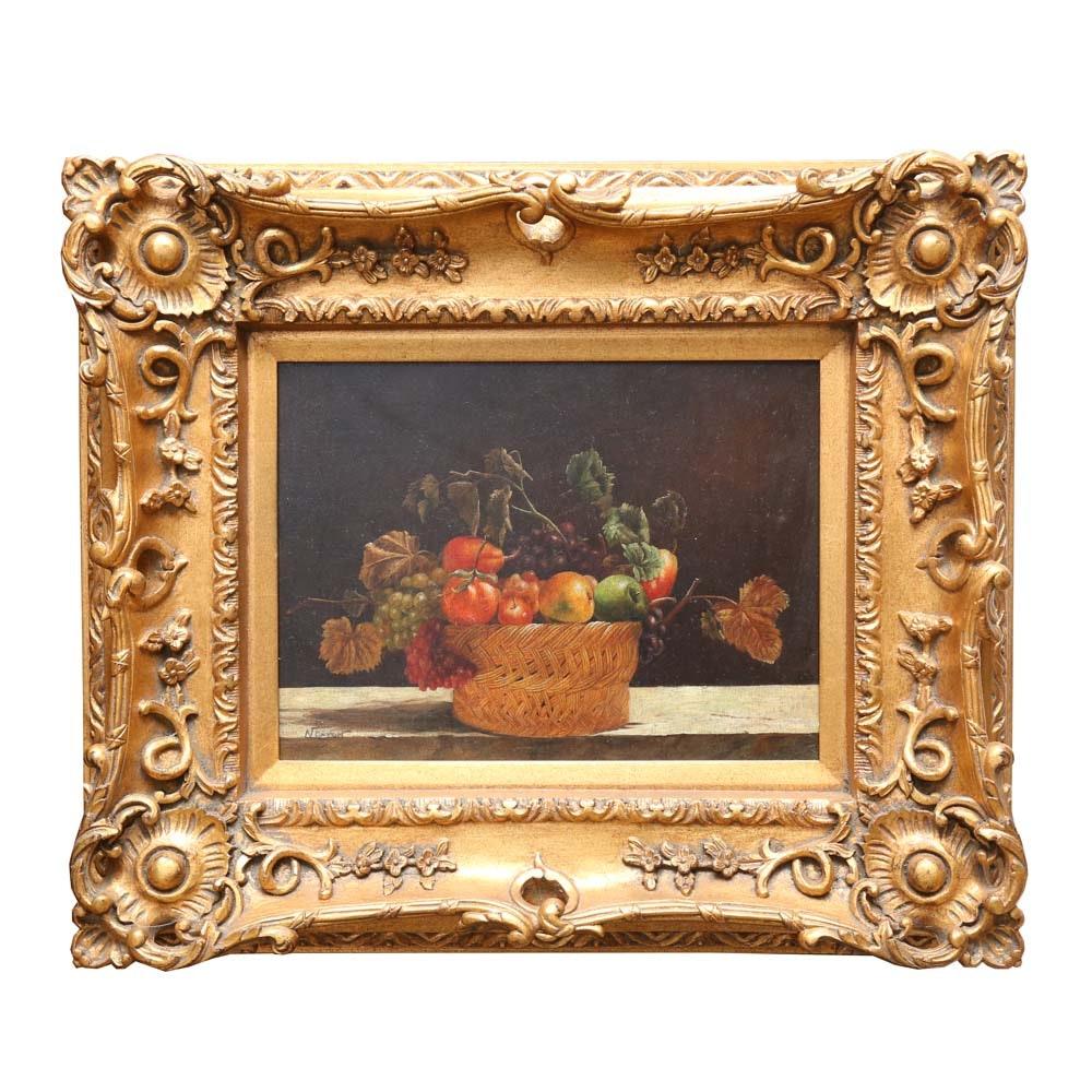 Norton Original Oil Still Life on Canvas
