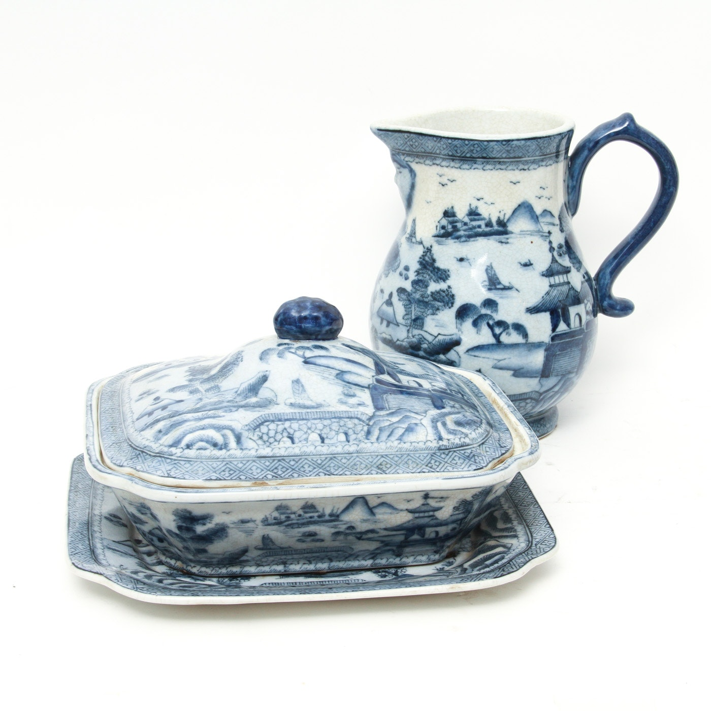 Collection of Chinese Serving Pieces Including United Wilson 1897