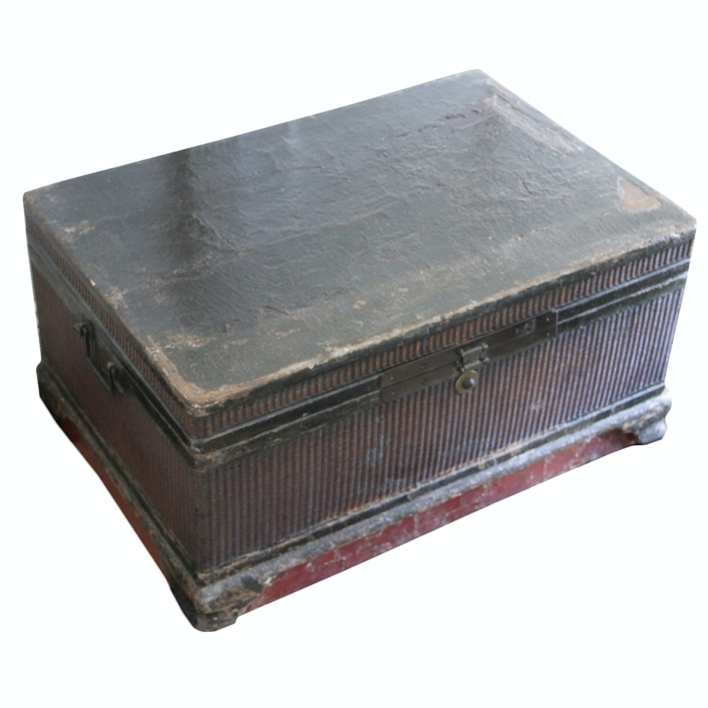 Vintage Wood and Wicker Trunk