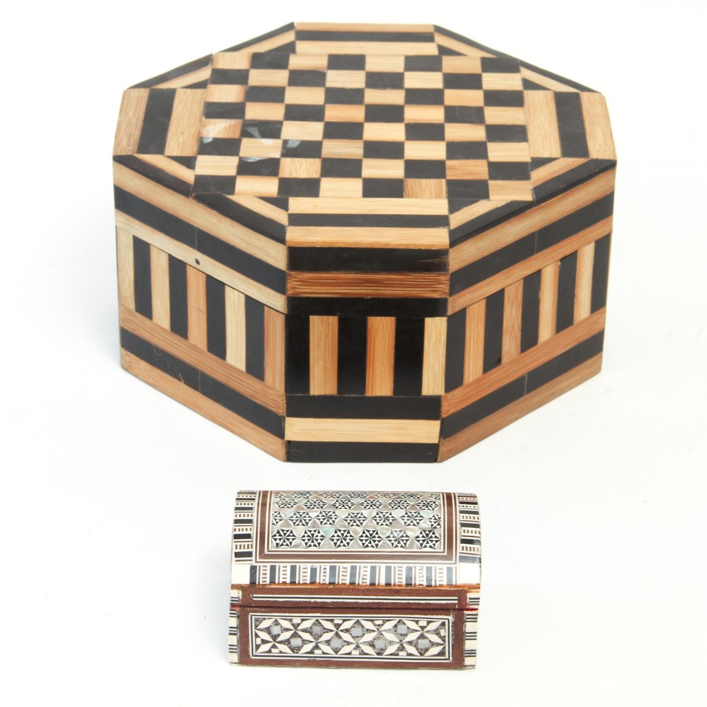 Pair of Decorative Inlaid Boxes