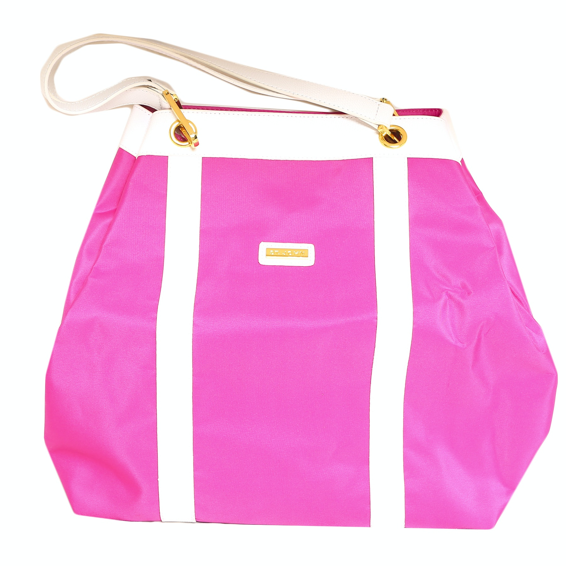 St John Company Store Hot Pink and White Tote