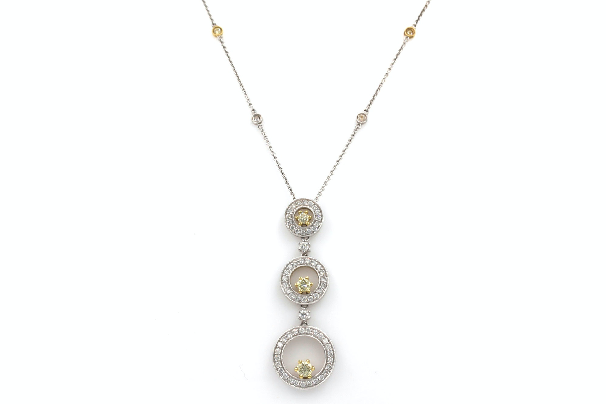 Simon G. 18K Two-Tone Gold 1.15 CTW Diamond Pendant Necklace