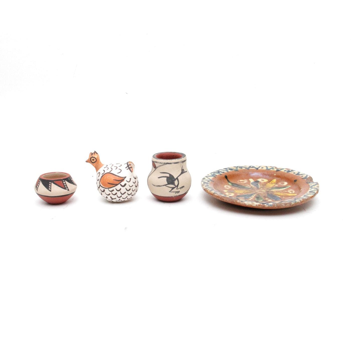 Southwest Miniature Pottery Pieces Including Jemez Pueblo