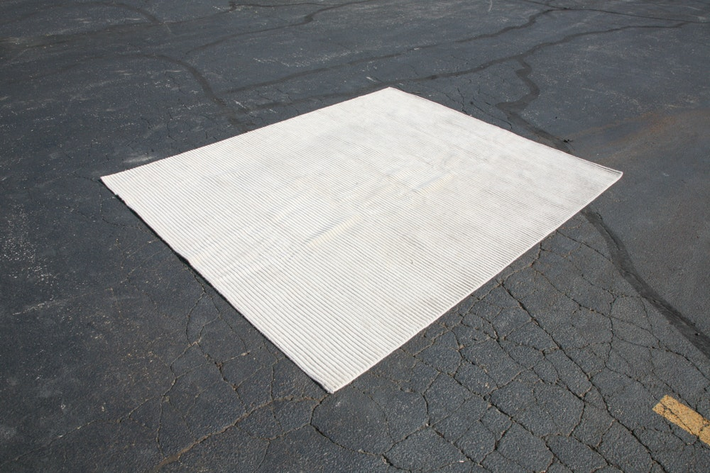 Large Hand Loomed Neutral Loloi Hemmingway Collection Area Rug