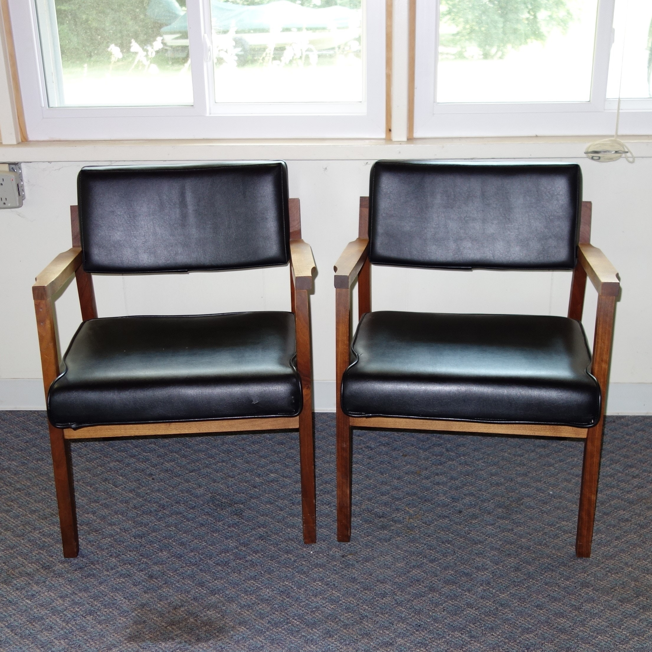 pair of eckadams mid century modern chairs