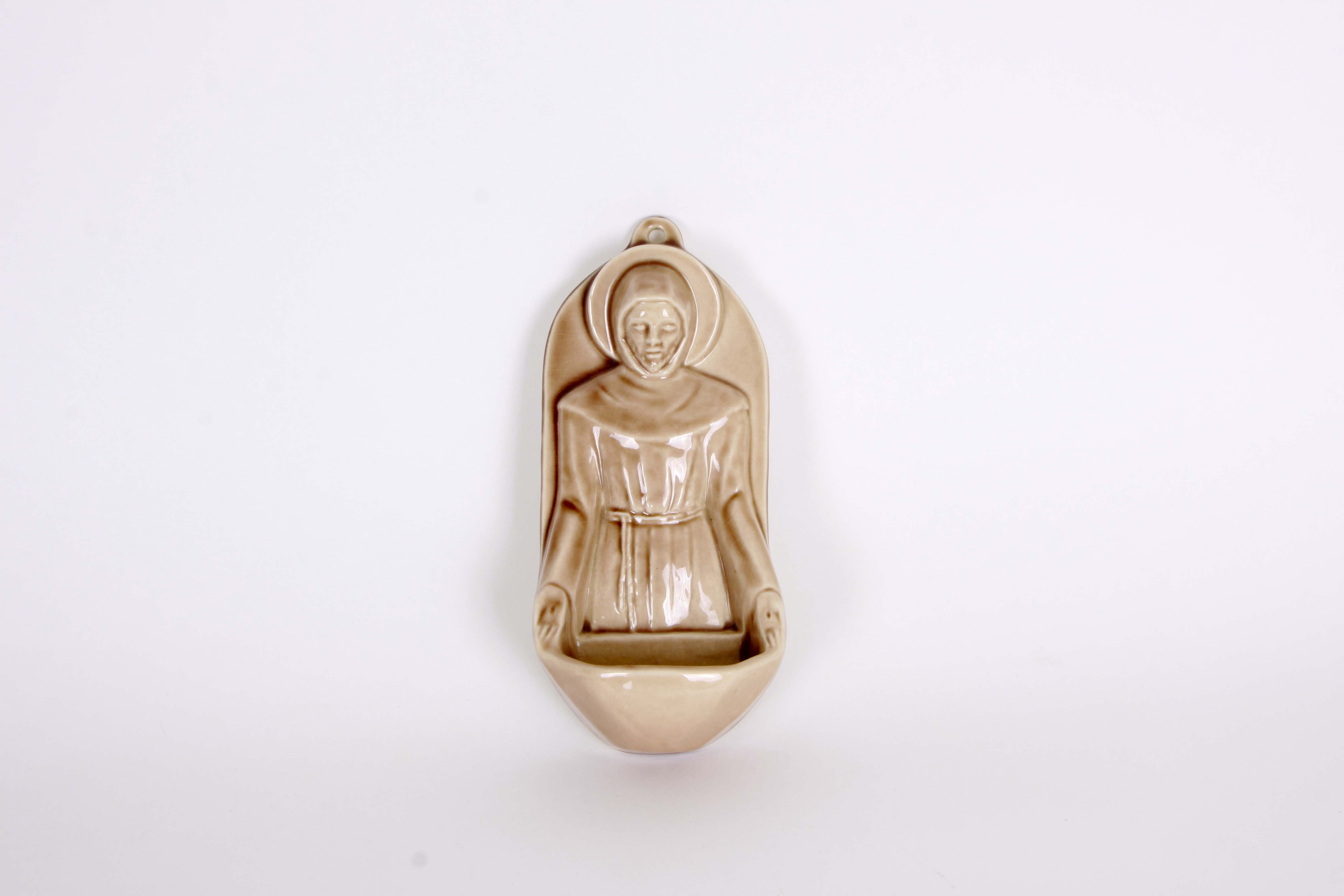 Rookwood Pottery St. Francis Holy Water Font